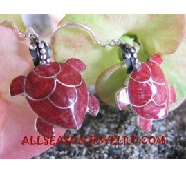 Turtles Earrings Silver