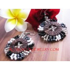 Bali Beads Wood Earring