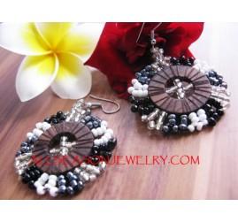 Bali Beads Wood Earring