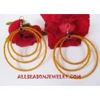 Bead Hoops Earrings