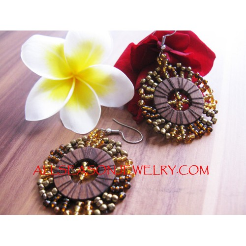Gold Beads Earring