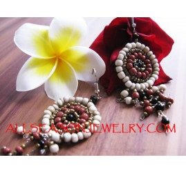 Bead Earring Casual Girls