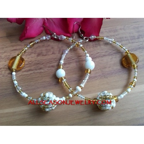 Women Beaded Earring Hoop
