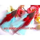 Blue Feather Earrings
