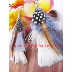 Tassel Feather Drop Earring