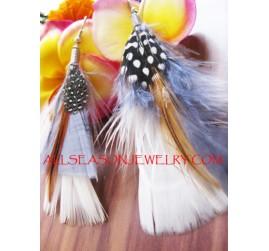 Tassel Feather Drop Earring