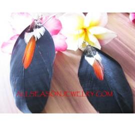 Dip Dye Feather Earring