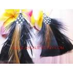 Daily Feather Hoop Earrings