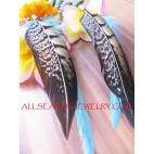 Fancy Feather Earrings