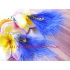 Purple Earring Stud Feather