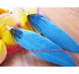 Punk Drop Earring Feather