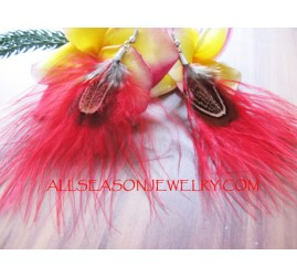 Handcrafted Feather Earring