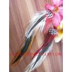 Handmade Feather Dangle