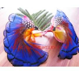 Exotic Feather Earring