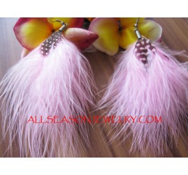 Hook Earring Feather Fashion