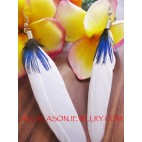 Organic Feather Earring