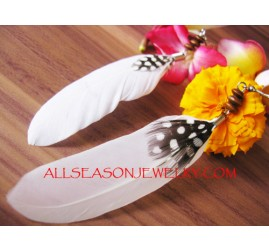 Natural Feather Earring