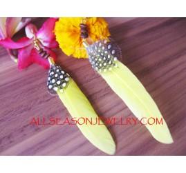 Yellow Feather Fashion