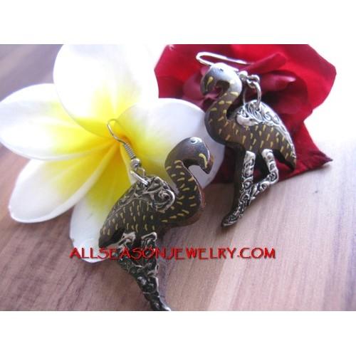 Bird Wooden Earrings
