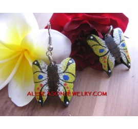 Butterfly Wood Earrings