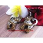 Cats Wooden Earrings