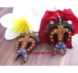 Wood Carving Earrings