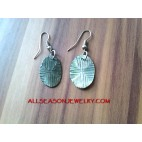 Shell Carving Earring
