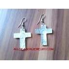 Cross Earring Carving
