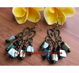 Beads Shells Fashion Earring
