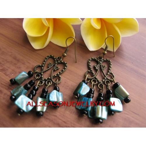 Beads Shells Fashion Earring