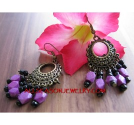 Purple Fashion Earrings