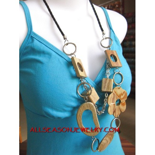 Casual Wooden necklaces