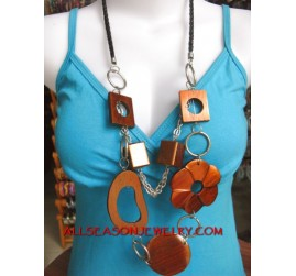 Ladies Wooden Necklaces