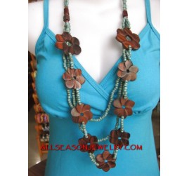 Bead Wooden Necklaces