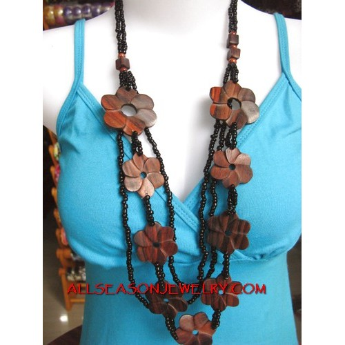Organic Wood Necklace Solid