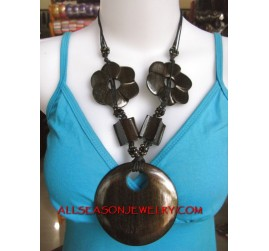 Casual Exotic Wood Necklace