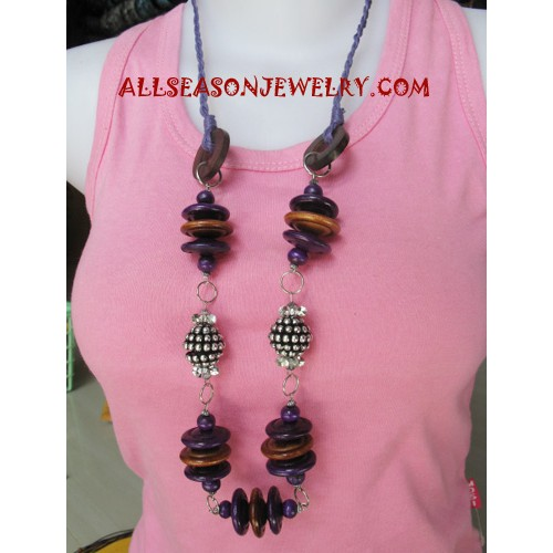 Wood Necklaces Stainless