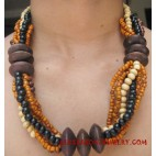 Bead Wooden Necklace