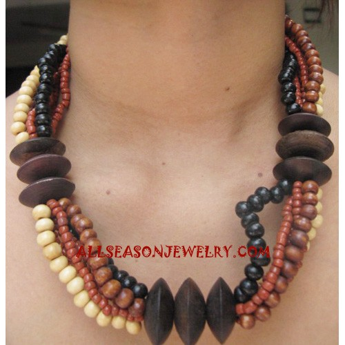 Beading Wooden Necklace
