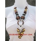 Beads Wooden Necklace