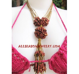 Beads Wooden Necklaces