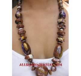 Brown Wooden Necklaces