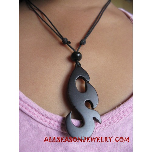 Carved Necklace Wooden