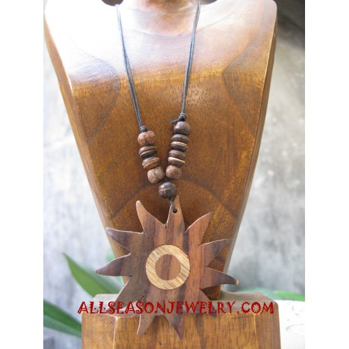 Carving Wooden Necklace