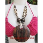 Coco Wooden Necklace