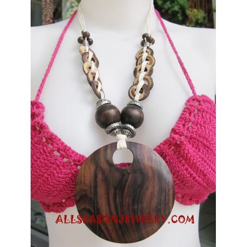 Coco Wooden Necklace