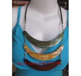 Triangle Wood Necklaces