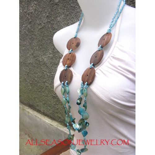 Fashion Timber Necklace