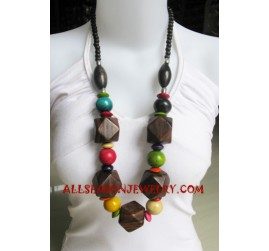 Girls Wood Necklaces