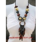 Handmade Necklace Wood